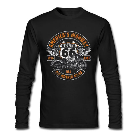 Sweat shirt manches longues Vintage Biker Route 66