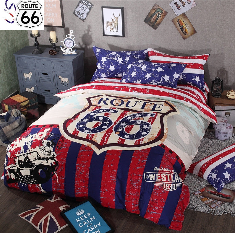 Ensemble literie route 66 us route 66 - Ensemble literie x ...