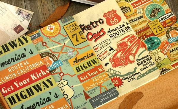 "Livret ""Carnet de notes"" Route 66"