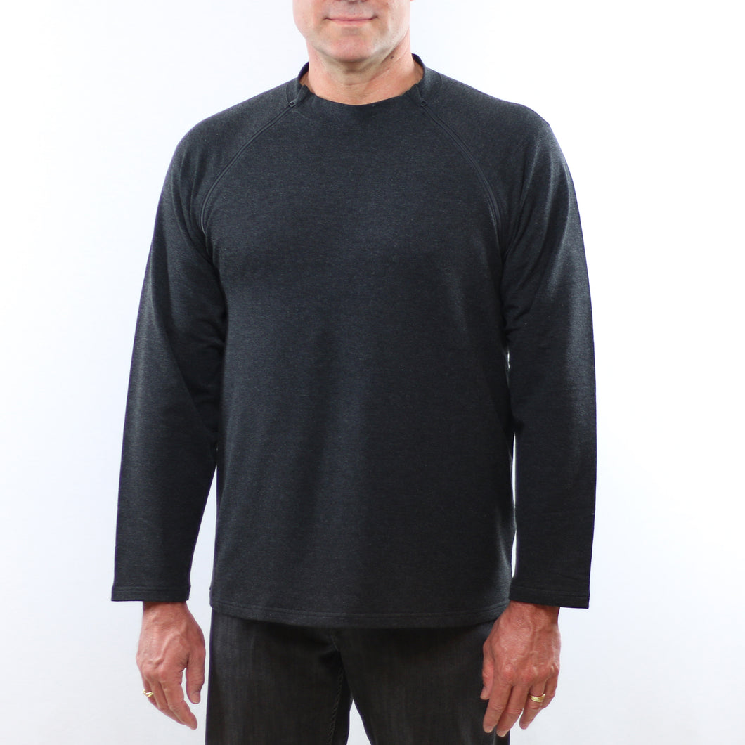 Mens Adaptive Double-zip Pullover