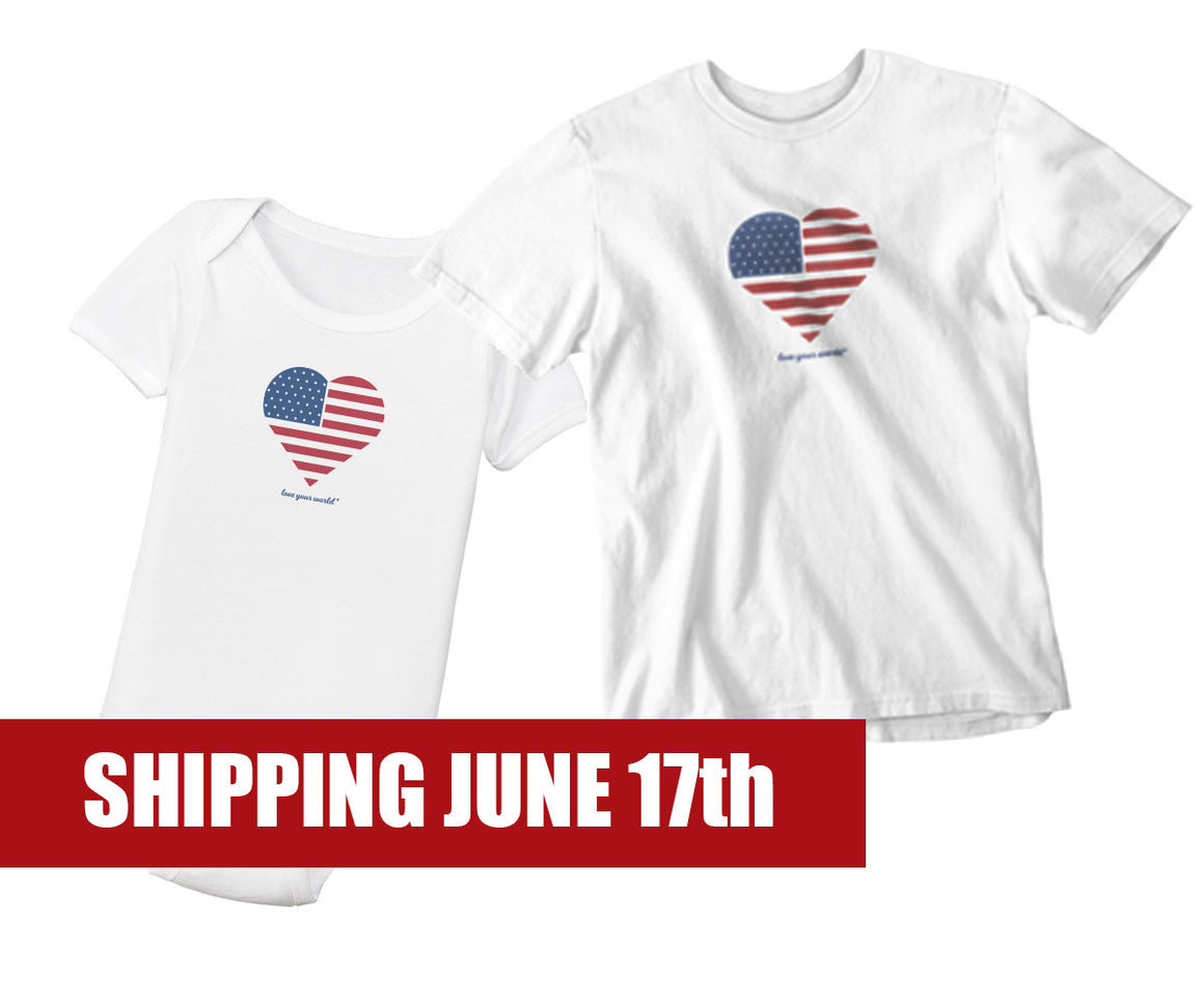 Organic 4th of July Kids T-shirt | Organic 4th of July Onesie
