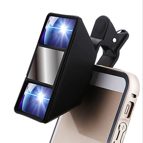 1Pc High Quality Smartphone Universal 3D Mini Photograph Stereo Vision Camera Lens With Clip for iPhone for Samsung Black - Gadget World Store, Smartphone Accesories