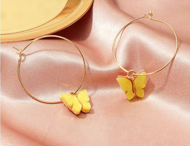 Butterfly Large Hoops