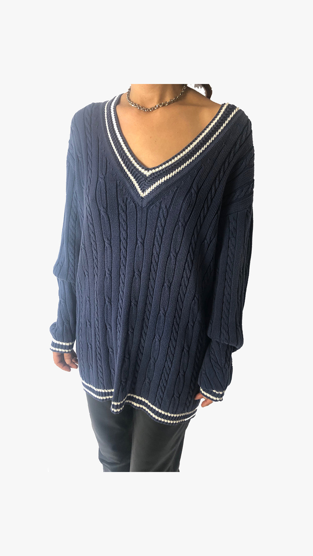Cable Knit Blue