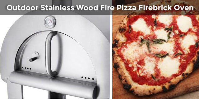 Outdoor Stainless Wood Fire Pizza Firebrick Oven