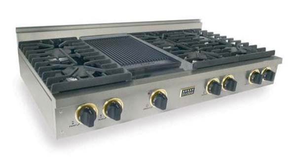 "48"" FiveStar Rangetop with (6) Sealed Burners, Grill-Griddle, Continuous Grates, in Stainless Steel"