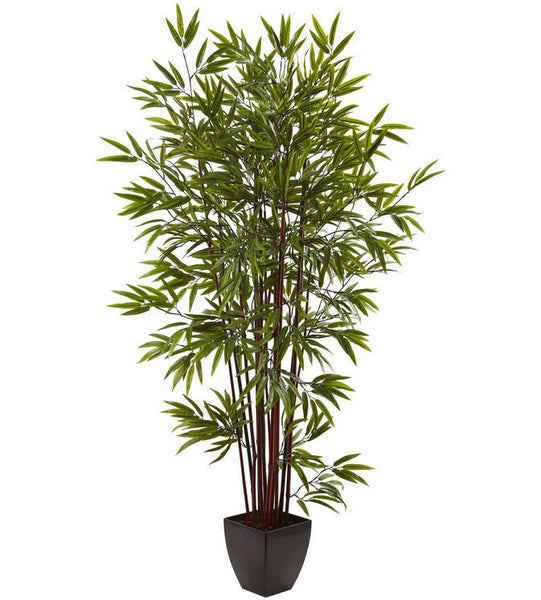 6 Ft. Artificial Bamboo Patio Balcony Home Office Floral Accent Decor Silk Tree Plant