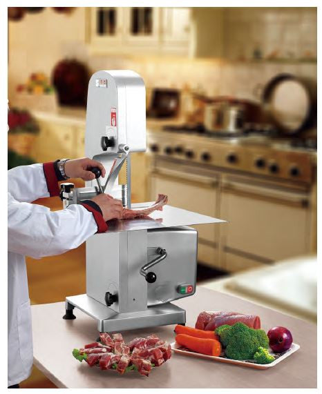 "Commercial Electric Vertical Table Top Butcher Meat Seafood Bone Saw, 78"" Blade"