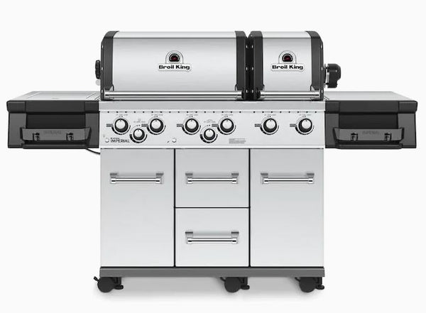 Broil King Imperial XLS Stainless Steel 6-Burner Gas Grill with 1 Side Burner and Rotisserie Burner