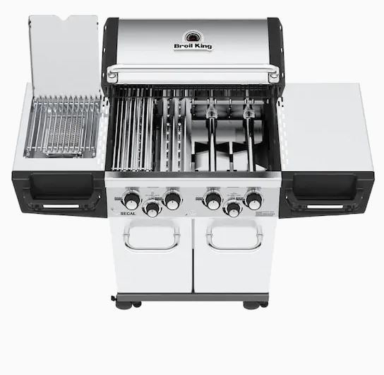 Broil King Regal S490 Pro IR Stainless Steel 4-Burner Infrared Gas Grill with 1 Side Burner and Rotisserie Burner