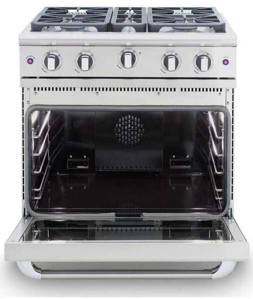"Capital Precision Series Stainless 30"" All-Gas Sealed Burners, Infrared Broiler Range"