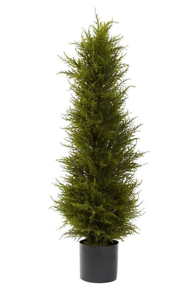 Artificial 3.5 Ft. Potted Cedar Tree for Home Patio Balcony Entry Hall Floral Decor