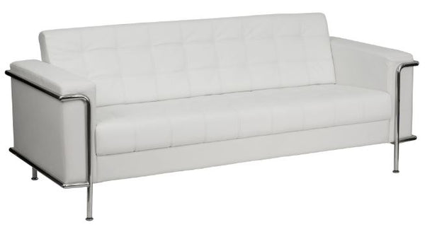 Contemporary Style LeatherSoft Sofa Couch with Stainless Steel Encasing Frame