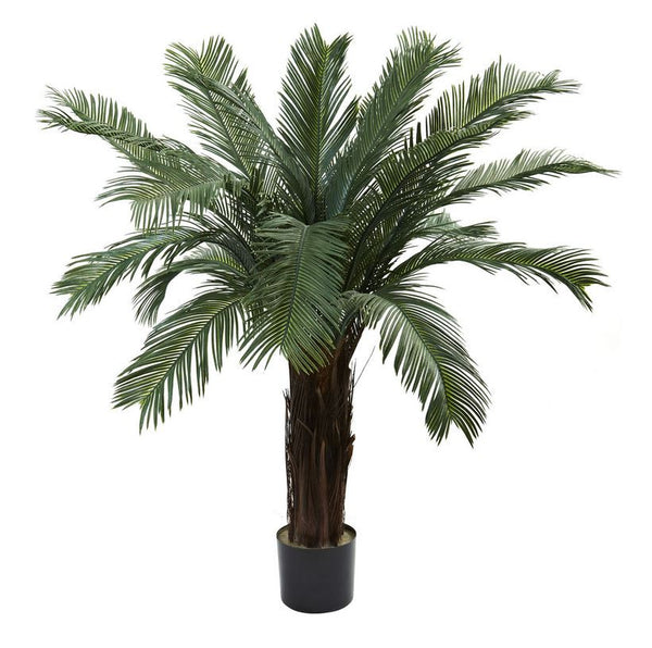 4 Ft. Indoor Outdoor Cycas Palm Pool Patio Home Office Shade Tree UV Resistant