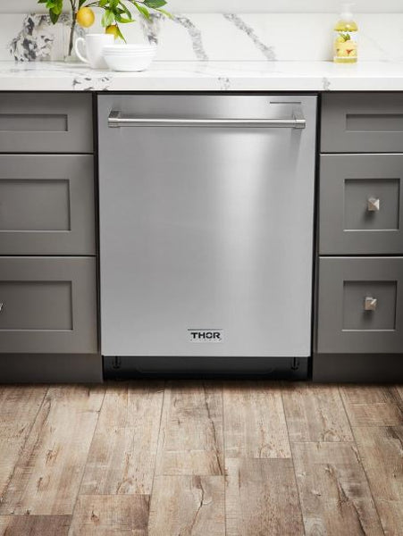 "Thor Kitchen Stainless Steel 24"" Standard Built-in Dishwasher, Integrated Controls, 45 dB, Tall Tub"