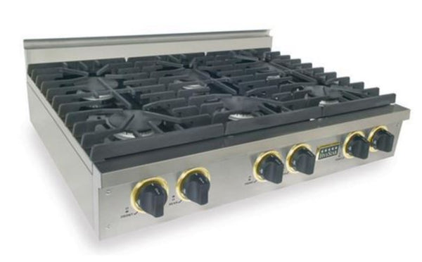 "36"" FiveStar Sealed Burner Gas Cooktops - Rangetops (Optional Griddle and Brass Trim)"