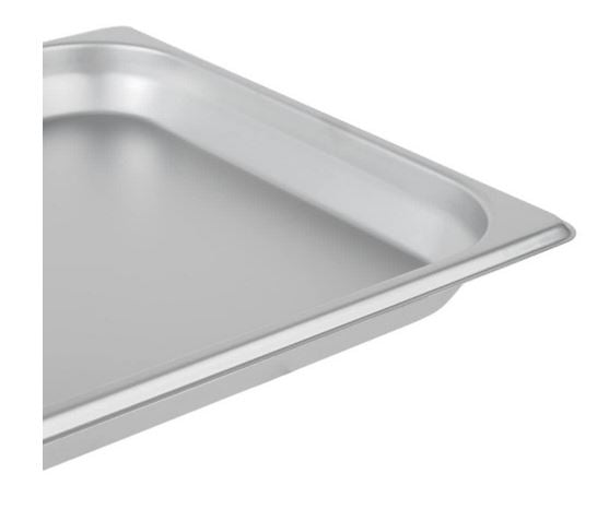 Half Size 6-Piece Standard Weight Anti Jam Stainless Steel Steam Table Hotel Pan