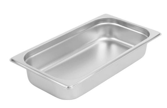 1/3 Size 6-Piece Standard Weight Anti Jam Stainless Steel Steam Table Hotel Pan
