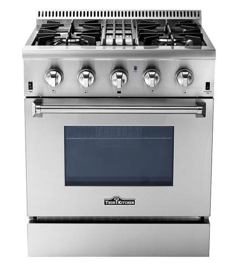 "Thor Kitchen 30"" 4.2 cu ft Dual Fuel Convection Range in Stainless Steel"