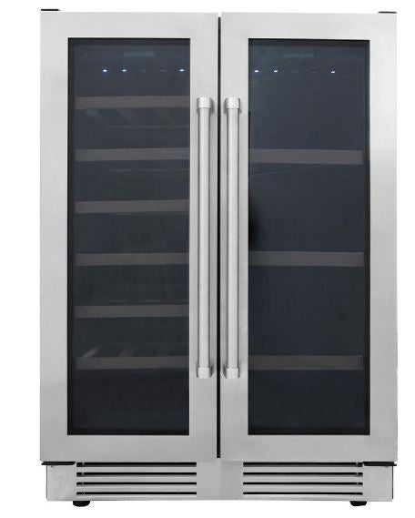 Thor Kitchen Stainless French Door Dual-Zone Bottle and Can Beverage Center Cooler Storage Unit