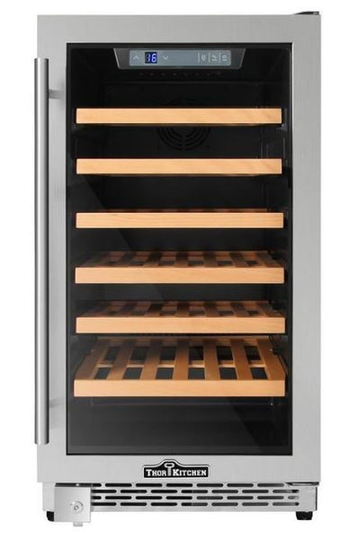 Thor Kitchen Stainless Single Zone 40-Bottle Wine Cooler Storage Unit
