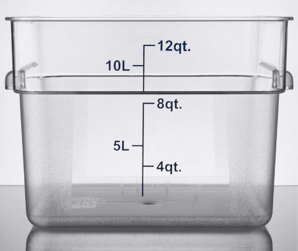 3-Pack Clear Square Commercial Grade Kitchen Food Measured Storage Container