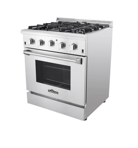 "30"" Thor Kitchen Stainless Steel Pro Style Convection Gas Range, Infrared Broiler"