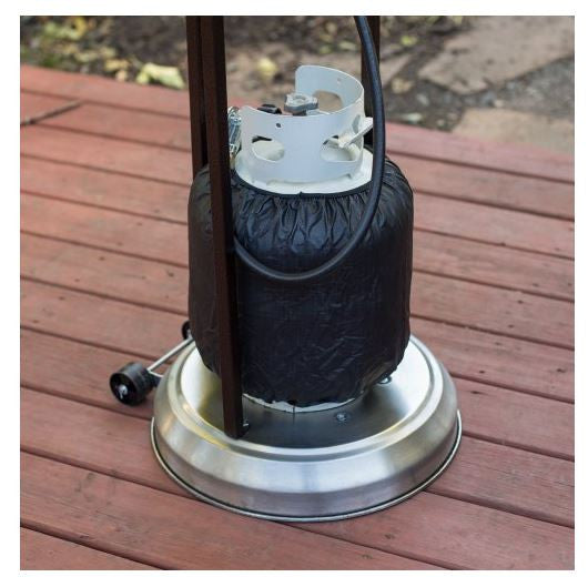 Outdoor 7 Ft. Stainless Steel Propane Patio Deck Outside Heater (44,000 BTUs)