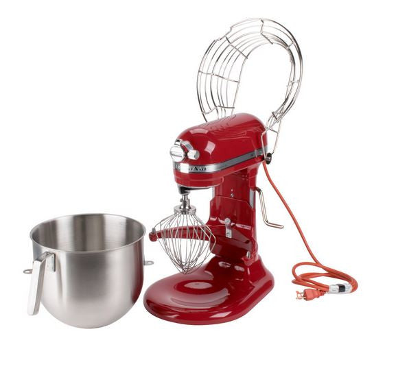 KitchenAid KSMC895 NSF 8 Qt. Bowl Lift Commercial Countertop Mixer with Stainless Steel Bowl Guard - 120V, 1.3 HP