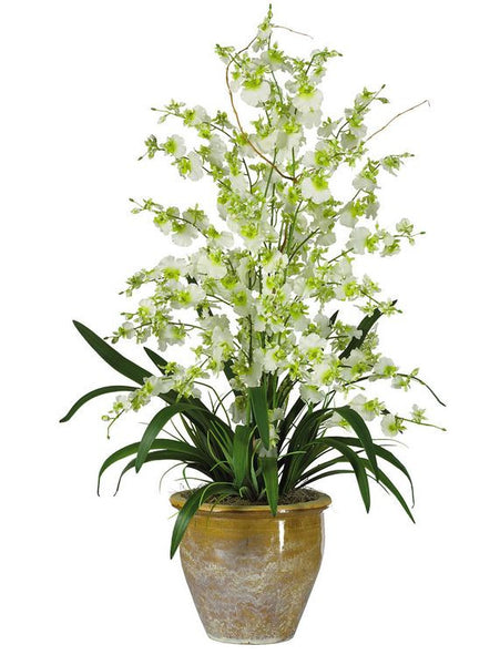 Dancing Lady Orchid Home Decor Office Artificial Silk Flower Center Arrangement