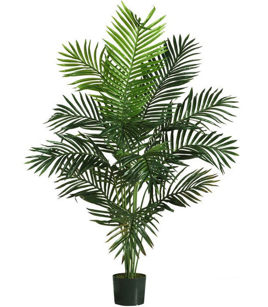 5 Ft. Tall Home or Office Decor Natural Tropical Palm Paradise Artificial Silk Tree