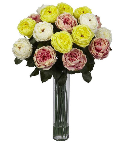 Floral Home Decor Rose Silk Artificial Flower Wedding Party Center Arrangement