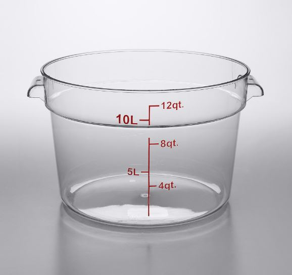 6-Pack Commercial Grade Clear Round Food Storage Containers
