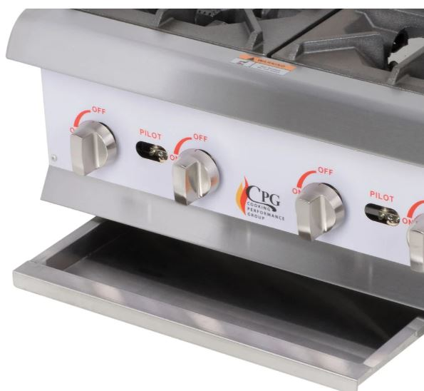 "24"" Step-Up Countertop Range / Hot Plate with 4 High Output Burners - 120,000 BTU"