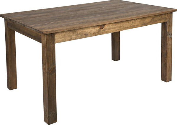 Rectangular Antique Rustic Solid Pine Farm Dining Table