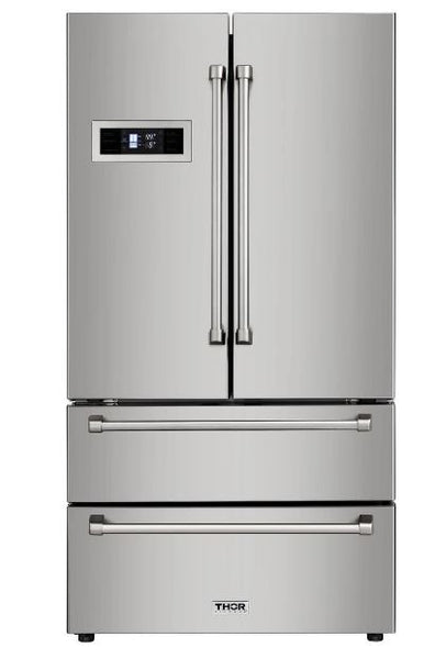 Thor Kitchen 20.9 cu ft 4-Door Counter-Depth French Door Refrigerator with Ice Maker (Stainless Steel)