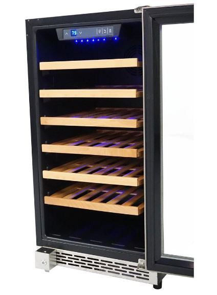 Thor Kitchen Stainless 18 Inch Built-In Wine Cooler - 40 Bottle Capacity