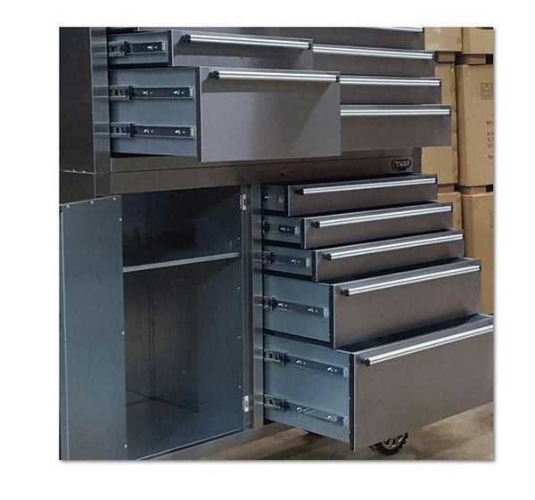"41"" Heavy Duty Stainless Rolling Garage Tool Box Chest Storage Cabinet 12 Drawer"