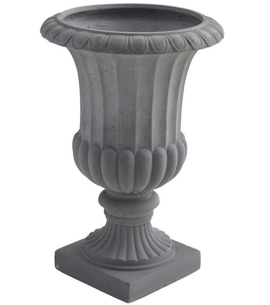 "16.5"" Indoor Outdoor Decorative Garden Patio Planter Flower Pot Fiber Clay Urn"