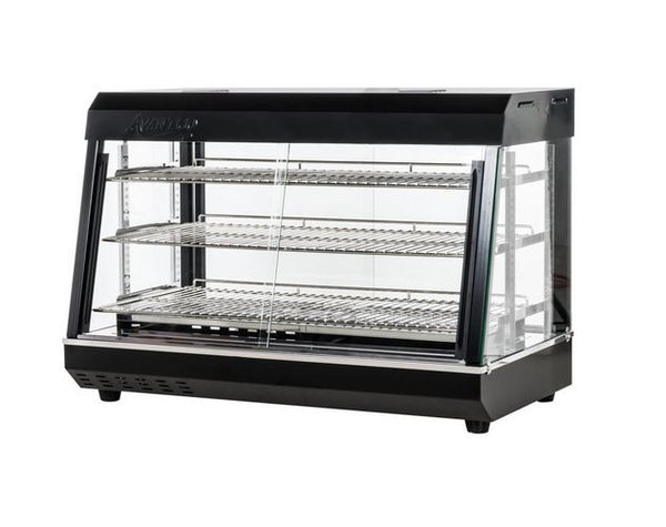 Commercial Countertop Hot Food Snack Glass Display Stainless, Sliding Door 1500W