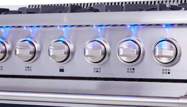 "36"" Thor Kitchen Professional Stainless Steel Dual-Fuel 5.2 cu. ft. Oven Range, Six Burners"