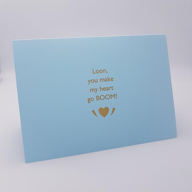 Loon Heart Goes Boom! Valentines Card