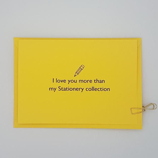 Love you more than Stationery card