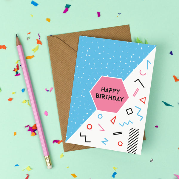 80's Happy Birthday Card