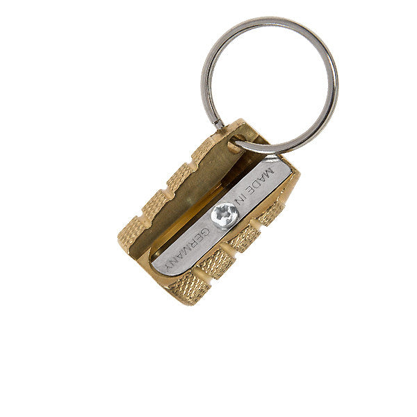 M&R Solid Brass Granate Pencil Sharpener Keyring