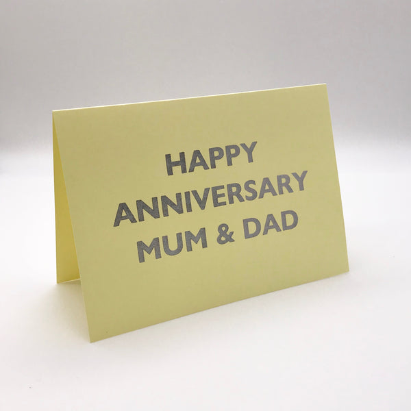Happy Anniversary Mum & Dad Card