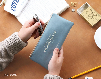 Iconic Pencil Case • Blue