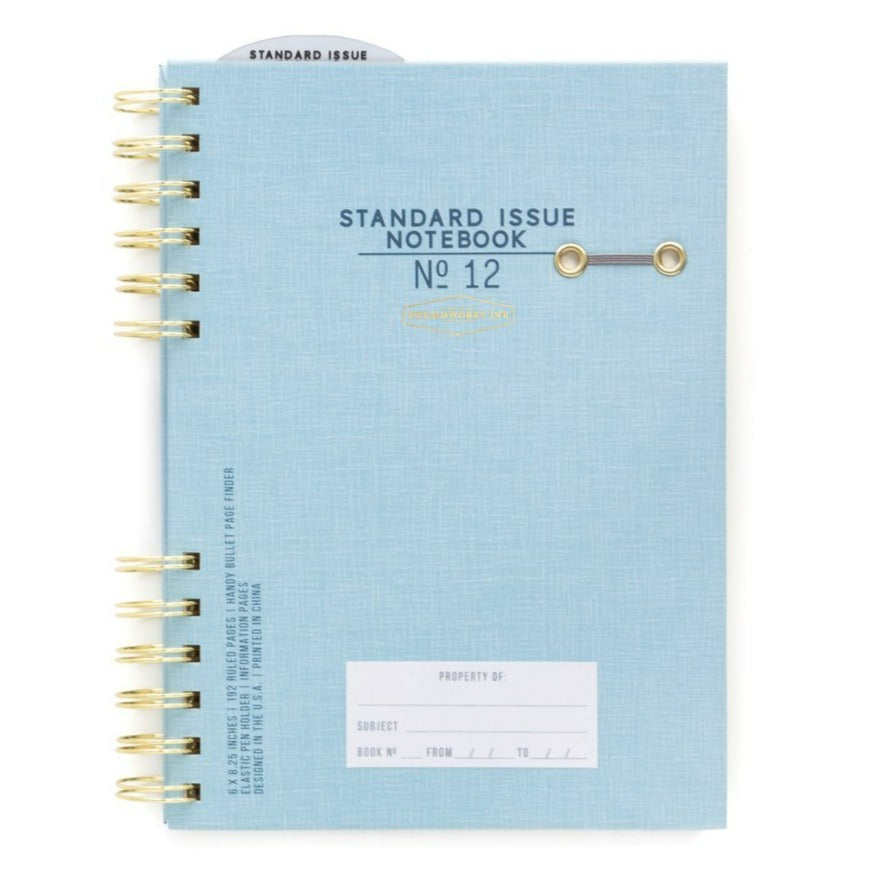 Standard Issue Notebook No.12 - Blue