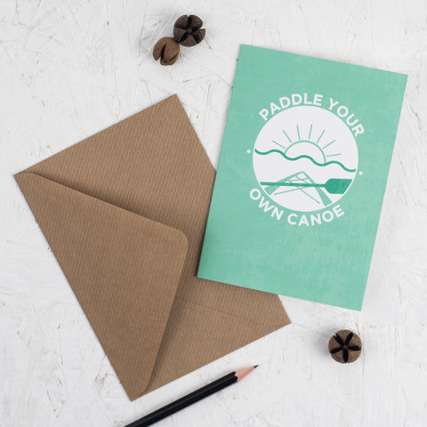 Paddle Your Own Canoe Adventure Card