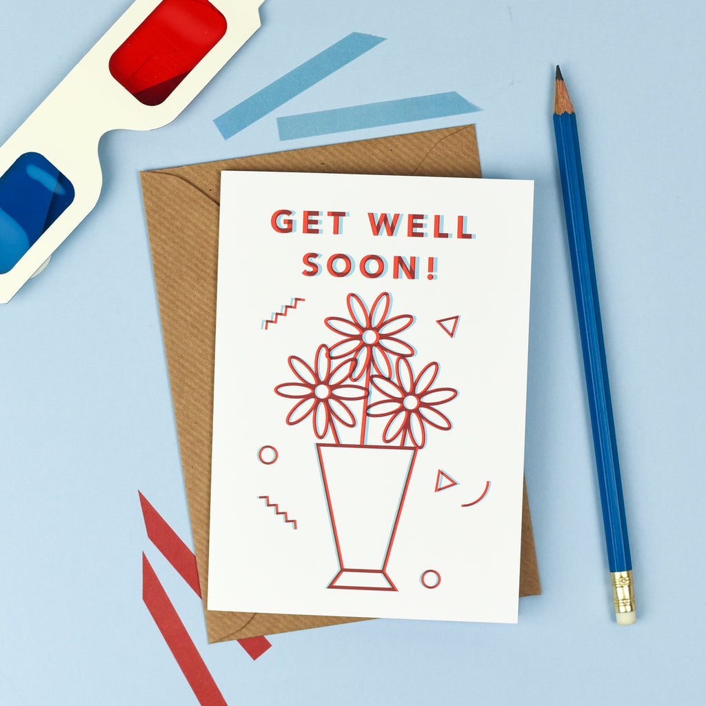 Get Well Soon - 3D Card